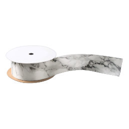 Marbleous Marble with Tripple Monogram Satin Ribbon