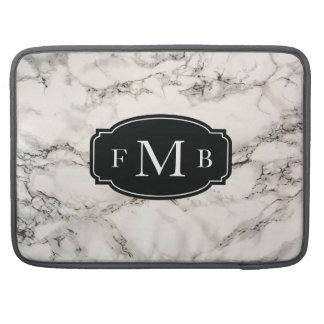 Marbleous Marble with Tripple Monogram Sleeve For MacBook Pro