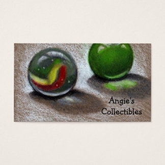 MARBLES: ART: REALISM BUSINESS CARD: COLLECTIBLES BUSINESS CARD