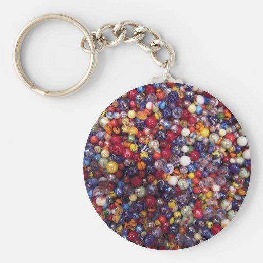 marbles basic round button keychain