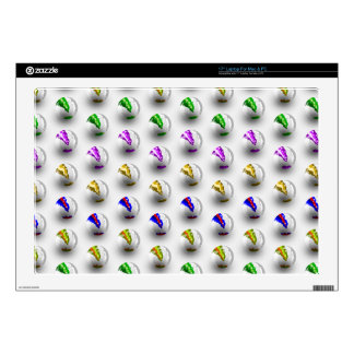Marbles Colourful Pattern Laptop Decals