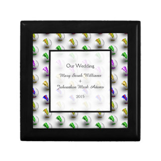 Marbles Colourful Pattern Wedding Keepsake Gift Box