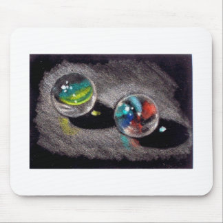 MARBLES IN COLOR PENCIL MOUSE PAD
