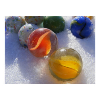 Marbles in Snow Poster
