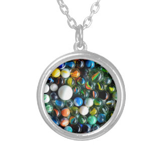 Marbles, Marbles, Marbles Round Pendant Necklace
