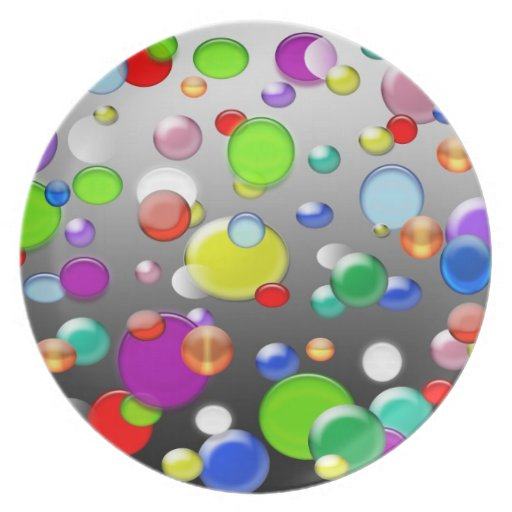 Marbles on a plate
