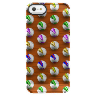Marbles on floor boards clear iPhone SE/5/5s case
