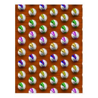 Marbles on floor boards postcard