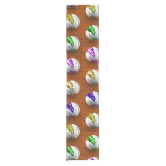 Marbles on floor boards short table runner