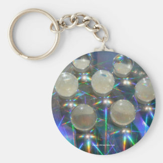 Marbles on Holograph Basic Round Button Keychain