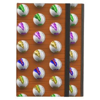 Marbles on Wood Pattern iPad Air Cover