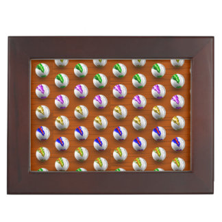 Marbles on Wood Pattern Memory Box