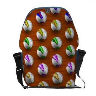Marbles on Wood Pattern Messenger Bags