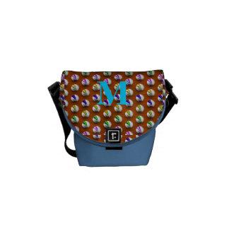 Marbles on Wood Pattern Messenger Bag