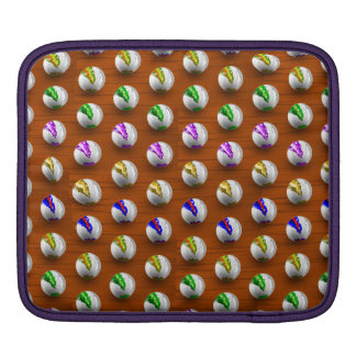 Marbles on Wood Pattern Sleeve For iPads