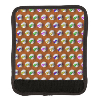 Marbles on Wood Pattern Luggage Handle Wrap