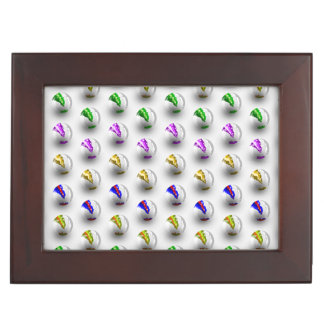 Marbles ZigZag Pattern Memory Box