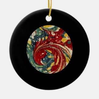 Marbling Antique Endpaper Marble Sphere Ornament