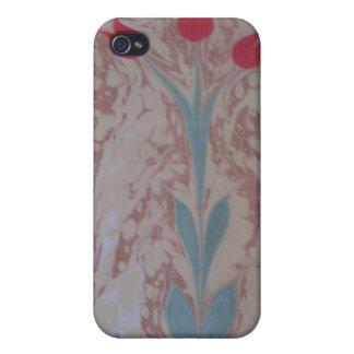 marbling art 3tulip iPhone 4 Case
