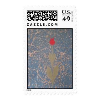 marbling art tulip Postage