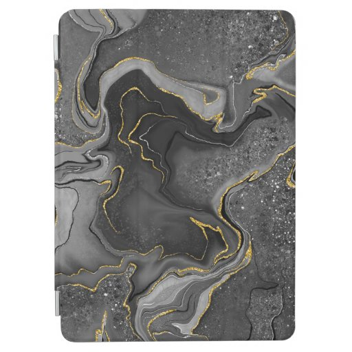 Marbling golden grey design iPad air cover
