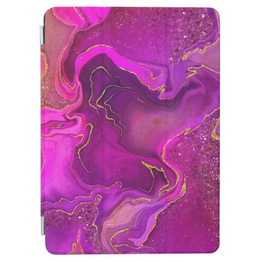 Marbling golden pink design iPad air cover