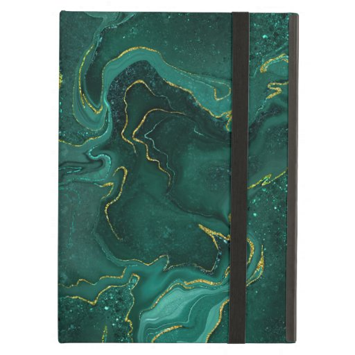 Marbling green golden design case for iPad air