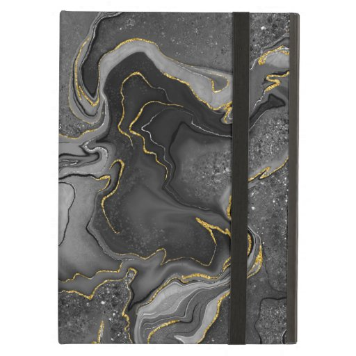 Marbling grey golden design case for iPad air