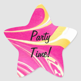 Marbling - Party Time Sticker