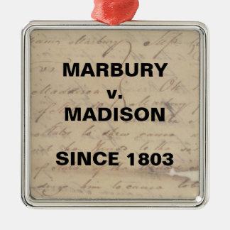Marbury Madison Checks and Balances Resistance Metal Ornament