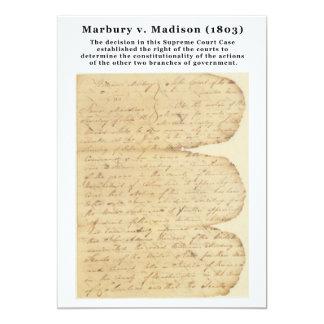 Marbury v. Madison, 5 U.S. 137 (1803) Card