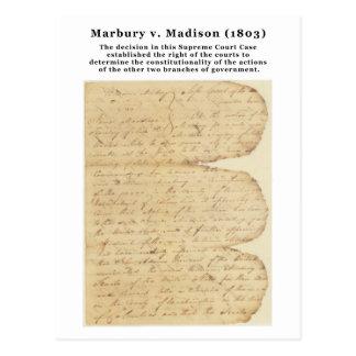 Marbury v Madison 5 U S 137 1803 Postcard