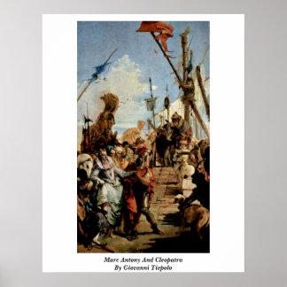 Marc Antonio y Cleopatra de Juan Tiepolo Poster