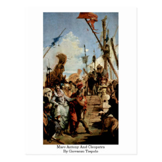 Marc Antony And Cleopatra By Giovanni Tiepolo Post Cards