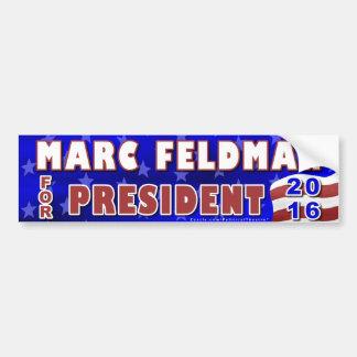 Marc Feldman President 2016 Election Libertarian Bumper Sticker