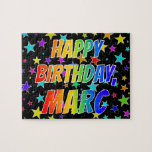 "[ Thumbnail: ""Marc"" First Name, Fun ""Happy Birthday"" Jigsaw Puzzle ]"