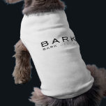 """Marc Jacobs Designer Logo Parody Dog T Shirt<br><div class=""""desc"""">For the Haute Dog. Bark Jacobs,  a parody of the famous fashion designer,  Marc Jacobs. Molded after the original logo. The word &quot;BARK&quot; sits above the logo. A must for dogs and their humans who love fashion! Customize with your pet&#39;s name!</div>"""