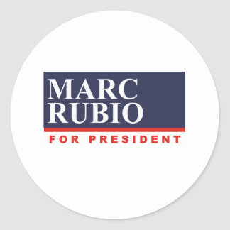MARC RUBIO FOR PRESIDENT (Banner) Classic Round Sticker