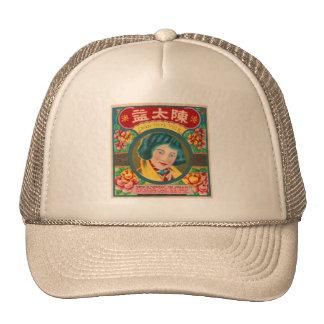 Marca bonita del chica del petardo retro del kitsc gorras de camionero
