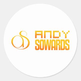Marca de Andy Sowards Pegatina Redonda