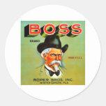 Marca de Boss Pegatina Redonda