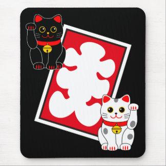 Marca de la casa llena y gatos japoneses el tentar tapetes de raton