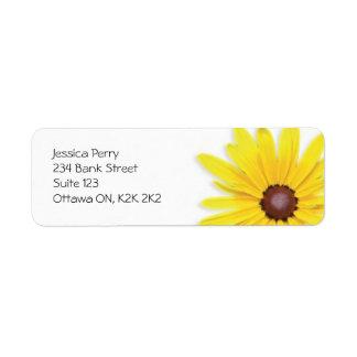 Marca de la flor - amarillo etiqueta de remitente