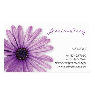 Marca de la flor - púrpura tarjetas de visita