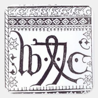 Marca de la impresión de William Caxton Colcomanias Cuadradas