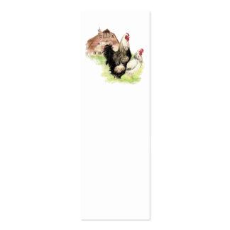 Marca de libro de la escena de la granja y del pol tarjetas de visita mini
