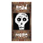 Marca de libro de la pared de ladrillo tarjetas personales
