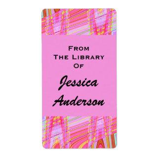 marca de libro rosada de la onda etiquetas de envío