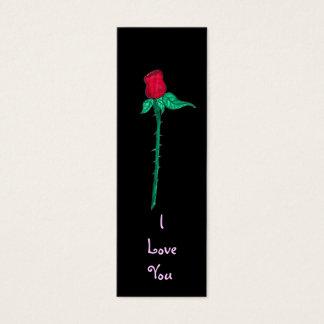Marca de libro - Rose te amo Tarjetas De Visita Mini