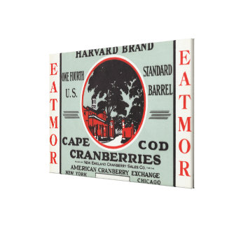 Marca de los arándanos de Cape Cod Harvard Eatmor Impresión En Lona Estirada